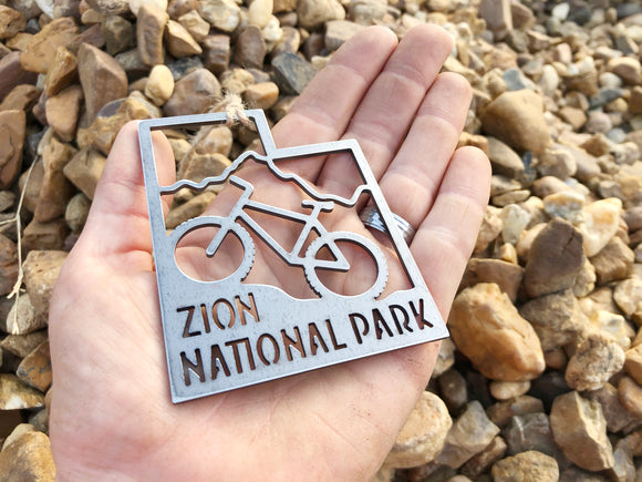 Zion National Park Mountain Bike Utah Ornament