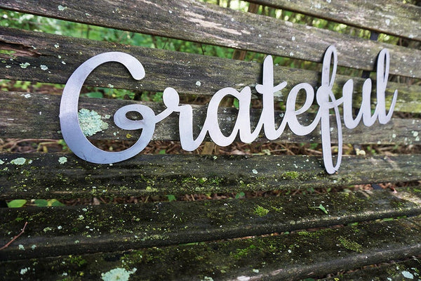 "Word Art - 23"" x 9"" - ""Grateful"" Script"