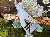 New Hampshire State Metal Kayaking Ornament