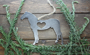 Standing Horse Metal Ornament