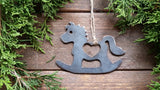 Rocking Horse Metal Ornament