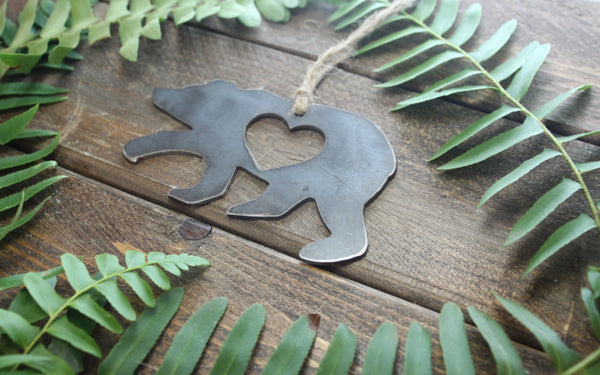 Bear Ornament with Heart