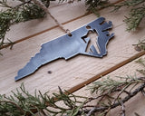 North Carolina State Ornament with Hiker