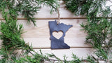 Minnesota State Metal Ornament