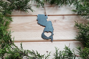 New Jersey State Metal Ornament