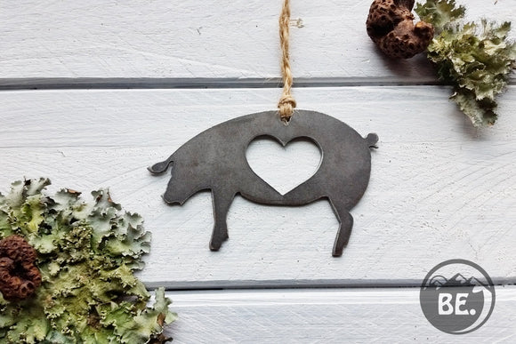 BBQ Pig Metal Ornament