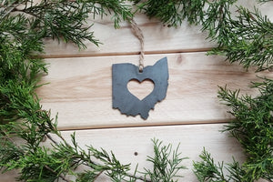 Ohio State Metal Ornament