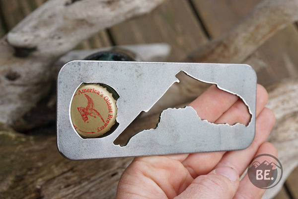 Florida State Rustic Raw Steel Bottle Opener