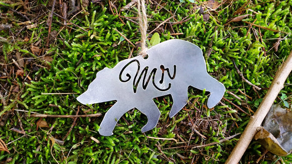 Mr. Bear Metal Ornament