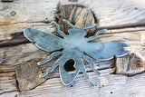 Bee Metal Ornament with Heart