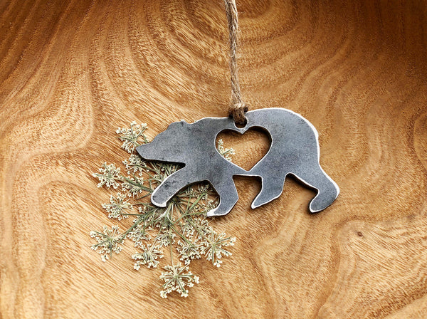 Baby Bear Ornament with Heart