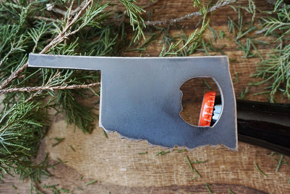 Oklahoma State Metal Bottle Opener