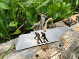 Tennessee State Metal Ornament with Hikers