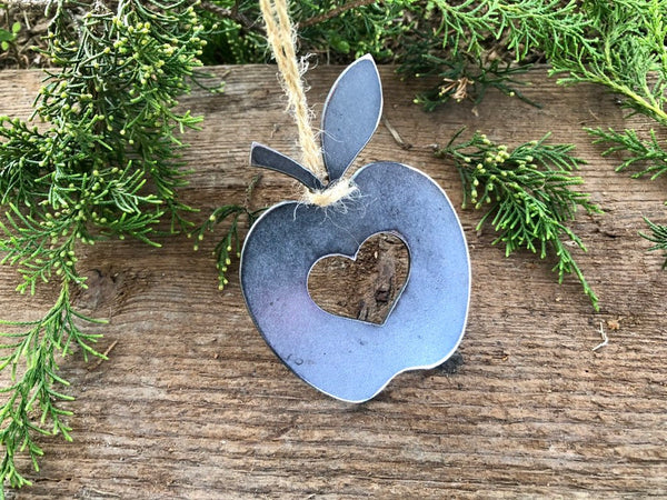 Apple Ornament with Heart