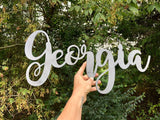 "Georgia 23"" Cursive Word Art"