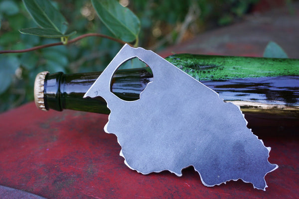 Illinois State Bottle Opener made from recycled Steel Rustic Farmhouse Decor Metal Bar Kitchen Tool IN Wedding Party Favor Host Gift Home