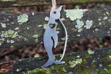 Penguin Metal Ornament with Heart
