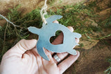 Sea Turtle Metal Ornament