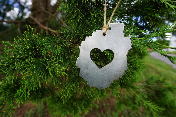 Adirondack State Park Ornament with Heart