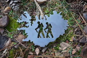 Iceland Ornament with 2 hikers
