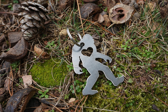 Yeti Bigfoot Metal Key Chain