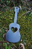 Acoustic Guitar Key Chain with Heart