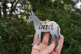 Bad Ass Donkey Metal Ornament