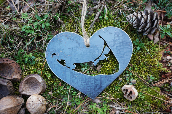 Nantucket Island Ornament in Heart