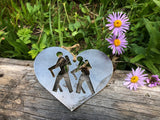 Hikers Ornament in Heart