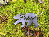 Papa Bear Metal Key Chain