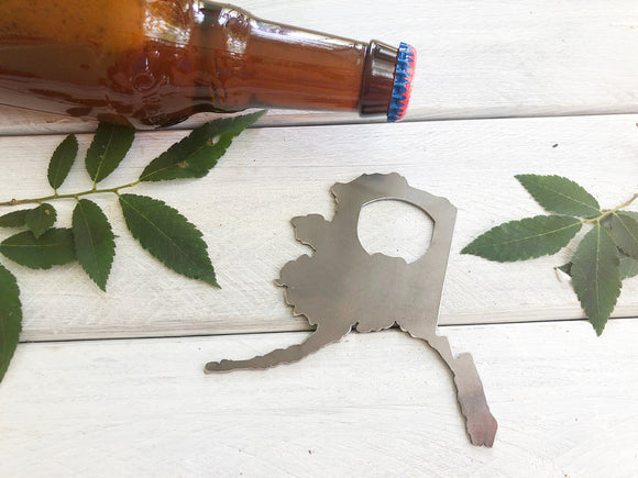 Alaska State Metal Bottle Opener