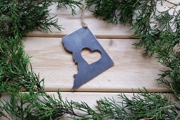 District of Columbia Ornament with Heart