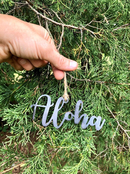 Aloha Rustic Christmas Ornament