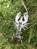 Maine Lobster Metal Ornament