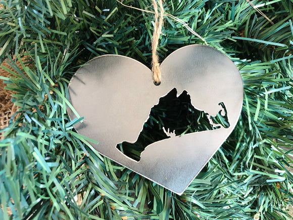 Martha's Vineyard Ornament in Heart