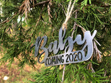 Baby Coming 2020 Metal Ornament