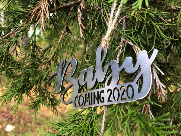 Baby Coming 2020 Ornament