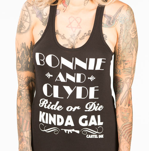 Bonnie and Clyde Women's Racer Back Tank Top