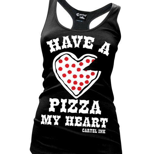Have a Pizza my Heart Women's Racer Back Tank Top