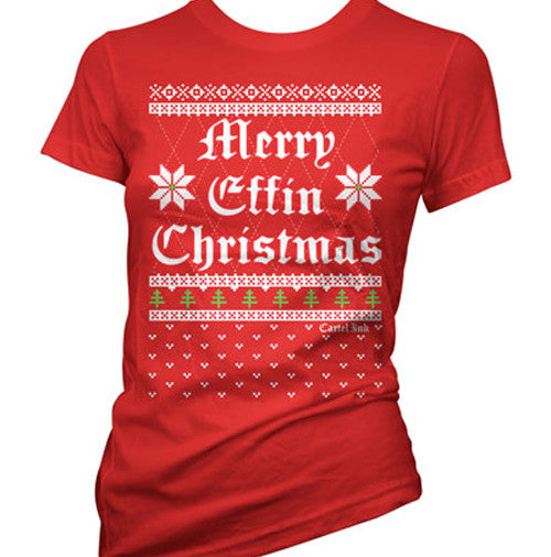 Merry Effin Christmas Ugly Sweater Women's T-Shirt