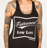tattooed low life racer back