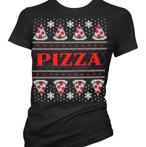 Pizza Ugly Christmas Sweater Women's T-Shirt