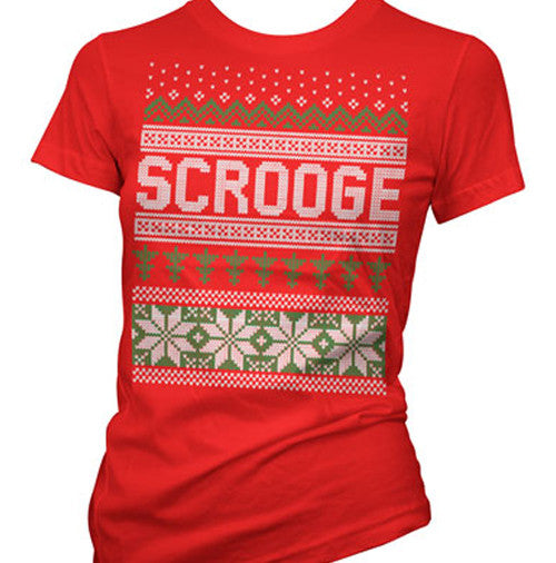 Scrooge Ugly Christmas Sweater Women's T-Shirt