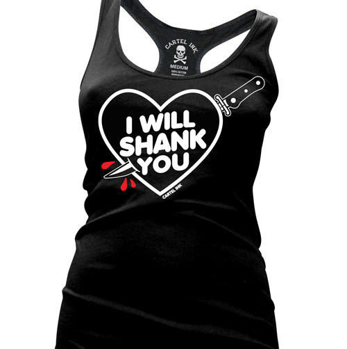 I Will Shank You Women's Racer Back Tank Top
