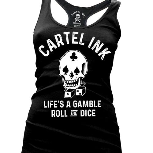 Roll The Dice Women's Racer Back Tank Top