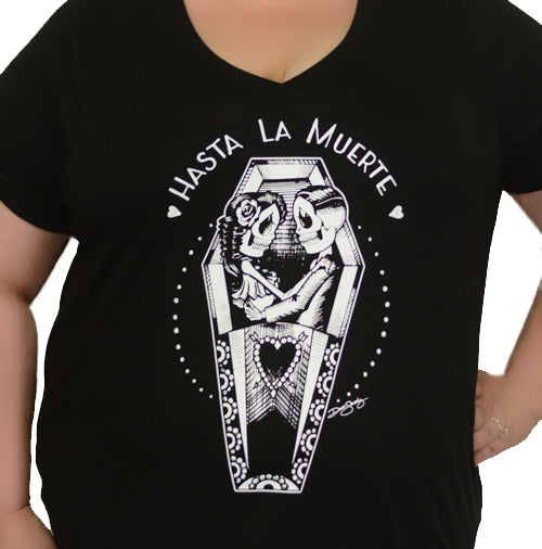 Hasta La Muerte Women's Plus Size V-Neck