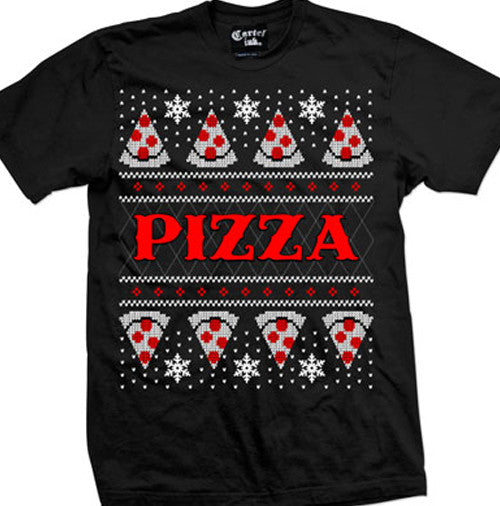 Pizza Ugly Christmas Sweater Men's T-Shirt