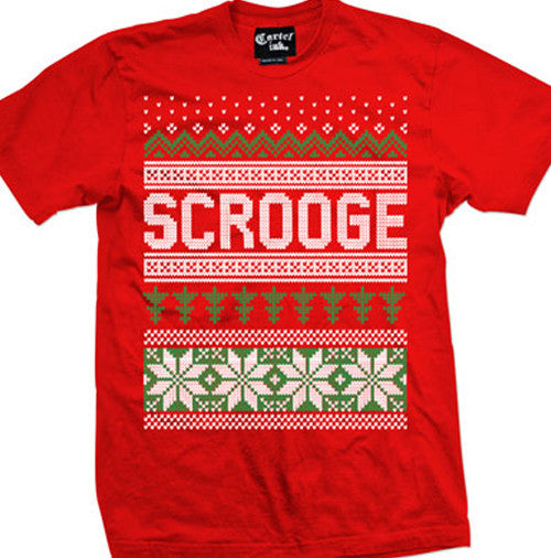 Scrooge Ugly Christmas Sweater Men's T-Shirt
