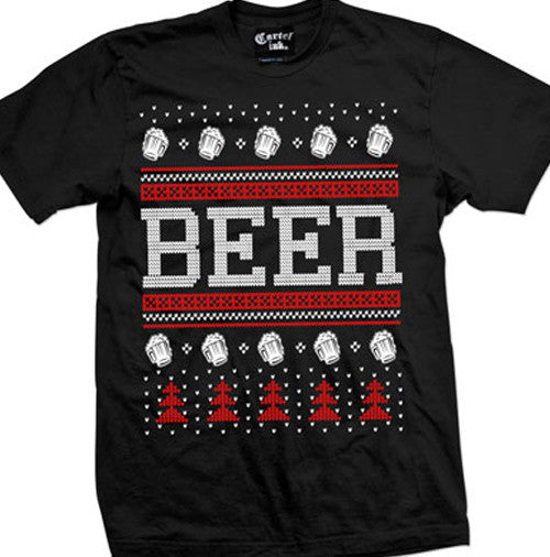 Beer Ugly Christmas Sweater Men's T-Shirt