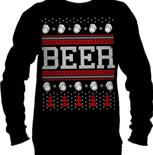 Beer Ugly Christmas Sweater Men's Long Sleeve T-Shirt